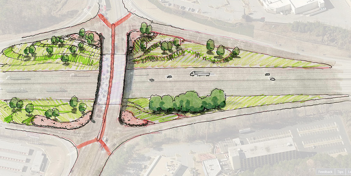 INTERCHANGE AND INTERSTATE BEAUTIFICATION